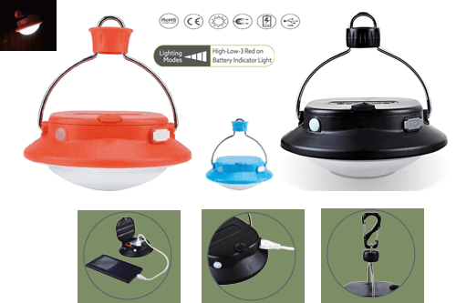 Rechargeable camping lamps